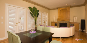 interior plantation shutters in a house in Aliso Viejo